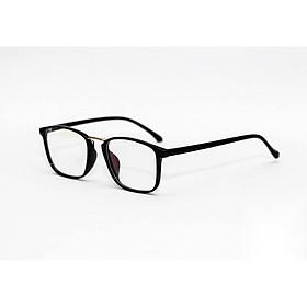 Kính xinh, Kính giả cận, Gọng kính cận Mắt vuông nhựa siêu dẻo siêu nhẹ + Tặng Tuavit Kính Xinh mini