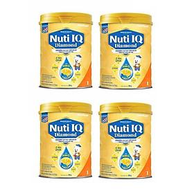 Bộ 4 Lon Sữa bột NUTI IQ Diamond số 1 cho trẻ từ 0-6 tháng - 900g