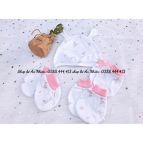 Bộ Nón bao tay chân Mi.om.io cho bé sơ sinh