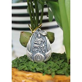 Dây chuyền Phật hộ mệnh cho Nữ Mệnh Thổ tuổi Dậu_Phật Bất Động Minh Vương_Mặt Phật Bạc Thái S999_BAN4