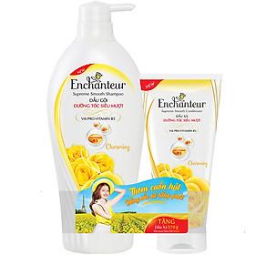 Dầu Gội Dưỡng Tóc Siêu Mượt Pro-Vitamin B5 Enchanteur Charming 6110870 650g - Tặng Dầu xả Charming 170g
