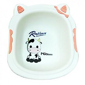 Chậu rửa mặt trẻ em in hình bò sữa xinh xắn Royalcare tặng xe trượt đà cho bé VBC-123-6 (ngẫu nhiên)