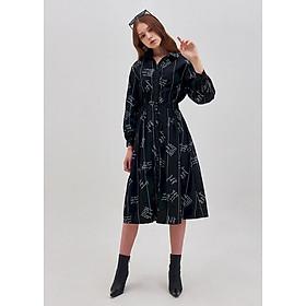 Đầm Midi Sơmi In Chữ Marc Fashion - PH091018