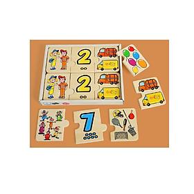 Đồ chơi gỗ - BỘ GHÉP SỐ GIÚP BÉ HỌC SỐ ĐẾM, ĐỊNH LƯỢNG.