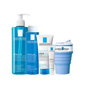 Bộ sản phẩm làm sạch sâu  và se khit lỗ chân lông dành cho da dầu mụn La Roche-Posay Effaclar
