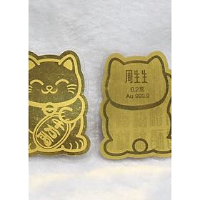 Miếng Dán Điện Thoại ( Mèo Vàng 24k)