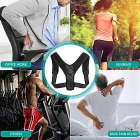Posture Corrector with Shoulder Pads Men Women Adjustable Back Trainer Shoulder Straps Back Brace Support-7