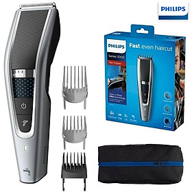 Tông đơ cắt tóc cao cấp Philips HC5690/15 tích hợp 2 lưỡi cắt, đảm bảo cắt nhanh chóng, tiết kiệm thời gian - Hàng Nhập Khẩu