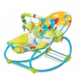 Ghế rung bập bênh 2 trong 1 có nhạc màu xanh lá Mastela tặng xe trượt đà cho bé VBC-123-6 (ngẫu nhiên)