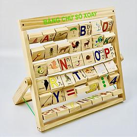 Bảng chữ số xoay tiếng Việt Mk- đồ chơi thông minh