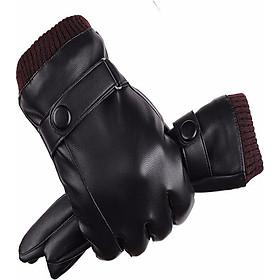 Bao tay da nam chống nước chống bong tróc cảm ứng điện thoại đi xe máy mùa đông cực ấm