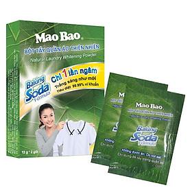 Bột tẩy quần áo thiên nhiên Mao Bao công thức Baking soda (12 g x 2 gói)