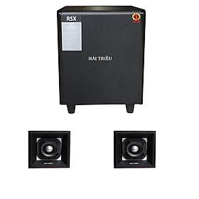 Loa sub điện siêu trầm 3 tấc và 1 cặp chép rời cho dàn âm thanh Hải Triều (hàng chính hãng)