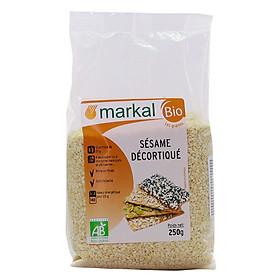 Hạt mè Hữu Cơ tách vỏ (mè vàng) MARKAL 250g