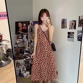 Đầm Hoa Hai Dây Thời Trang Nữ Tính
