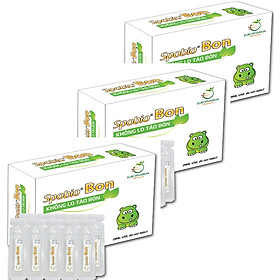Combo 3 hộp bào tử lợi khuẩn Spobio Bon - Không lo đày bụng chướng bụng táo bón chuyên biệt cho trẻ sơ sinh trẻ nhỏ và mẹ bầu