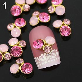 Hình đại diện sản phẩm 10Pcs 3D Alloy Glitter Rhinestone DIY Decorations Nail Art Tips Stickers
