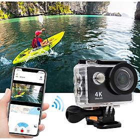 Camera Hành Trình 4K Ultra HD Wifi Kết Nối Với Điện Thoại Live Stream H9R Cao Cấp AZONE
