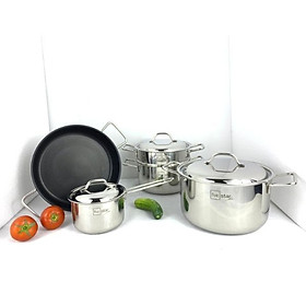 Bộ nồi inox 304 bếp từ 3 đáy Fivestar 4 món FS08CV