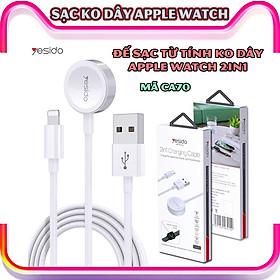 Đế sạc không dây dành cho đồng hồ thông minh - Dây cáp sạc nam châm dài 1.5 mét 2in1 chính hãng thương hiệu Yesido dành cho Apple Watch 1/2/3/4/5/6/Se_CA70