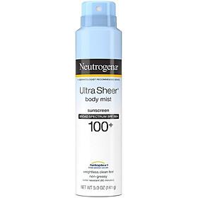 Xịt chống nắng Neutrogena Ultra Sheer Body Mist Sunscreen SPF 100+ 141g