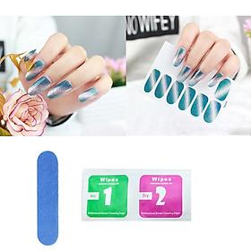 Sticker dán trang trí nghệ thuật cho móng tay (Kèm dũa và khăn)