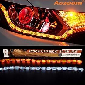 LED Mí Hạt Chạy DAYLIGHT AOZOOM Thủy Tinh Chính Hãng , LED Mí Viền Đèn Xe Aozoom Cao Cấp , Loại Lắp Trong Đèn