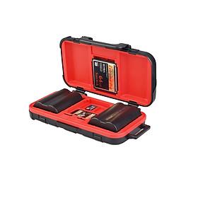 Hộp Đựng Thẻ Nhớ Và Pin Chống Nước LENSGO D850 (2 Pin) (4 Thẻ SD) (8 Thẻ TF) (2 Thẻ CF/XQD)