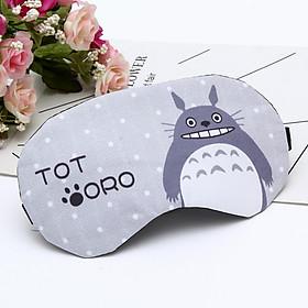 Bịt mắt ngủ hoạt hình ngộ ngĩnh có túi nước giải nhiệt tặng kèm bịt tai chống ồn