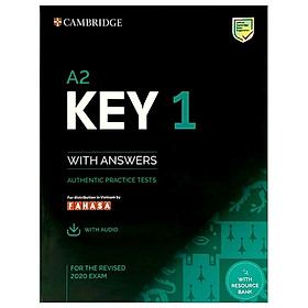 A2 Key 1 For The Revised 2020 Exam Student's Book With Answers With Audio With Resource Bank: Authentic Practice Tests (KET Practice Tests)