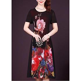 Đầm Suông Bigsize Trung Niên Từ 50-70kg Phối Tay Ngắn - Thời Trang  Giấu Bụng Goti 3251D