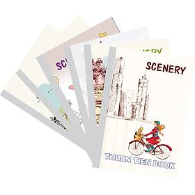 Lốc 5 Quyển Tập Sinh viên gáy vuông Scenery  kẻ ngang (120 Trang)  -mẫu ngẫu nhiên