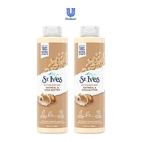 Combo 2 chai Sữa tắm dưỡng da St.Ives Yến mạch và Bơ 650ml
