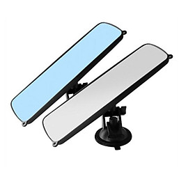 Universal Panoramic Rear View Mirror Wide Angle Rear View Mirror with Suction Installation