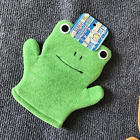 Găng tay tắm bé cao cấp hình Ếch nhập khẩu từ Nhật Bản