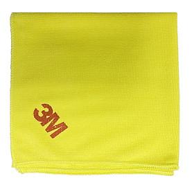 Khăn lau ô tô chuyên dụng Microfiber 3M 36x36cm - màu vàng