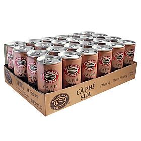 Thùng 24 Cà phê lon Cà Phê Sữa Đá Highlands Coffee (185ml/Lon)