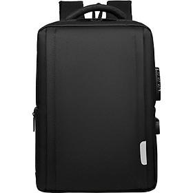 Balo đựng Macbook, Laptop 15.6 inch khóa mật mã, khe cắm tai nghe kèm cáp sạc ẩn