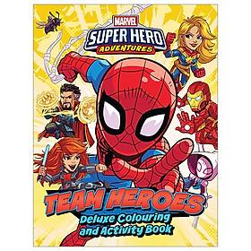 Marvel Superhero Adventures - Team Heroes Deluxe Colouring Book