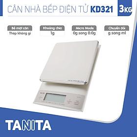 Cân điện tử nhà bếp TANITA KD321(3kg) (Chính hãng Nhật Bản), Cân nhà bếp 1kg, Cân nhà bếp 2kg, Cân nhà bếp 3kg, Cân nhà bếp độ chia 0.1g tối đa 200g, Cân Nhật, Cân trọng lượng, Cân chính hãng, Cân thực phẩm, Cân thức ăn, Cân tiểu ly điện tử, Cân chính xác