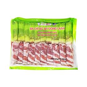 [Chỉ giao HN]Ba chỉ bò mỹ đông lạnh freshfoods- 1 gói