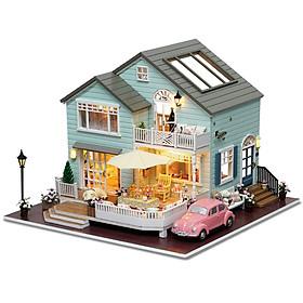 Nhà búp bê Ngôi nhà thu nhỏ lắp ghép Queen Town