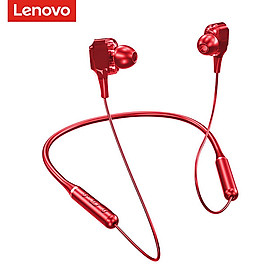 Lenovo XE66 Wireless Bluetooth 5.0 Headphones Neckband Outdoor Sport Headset Dual Moving Coil Neck Hanging Music