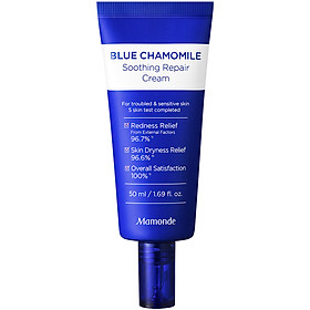 Kem Dưỡng Phục Hồi Và Làm Dịu Cho Da Nhạy Cảm Mamonde Blue Chamomile Soothing Repair Cream 50ml