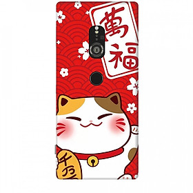 Ốp lưng dành cho điện thoại SONY XZ2 Mèo Thần Tài Mẫu 2