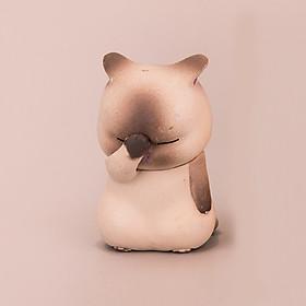 Tượng trang trí Mèo che mặt 5cm