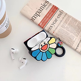 Rainbow Flower Headphone Cases for Apple Airpods 1/2/3 Silicone Earphone Cover Travel Storage Style:For Airpods Pro