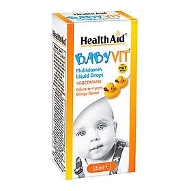 Baby Vit Drop cung cấp các vitamin cần thiết cho trẻ sơ sinh và trẻ nhỏ