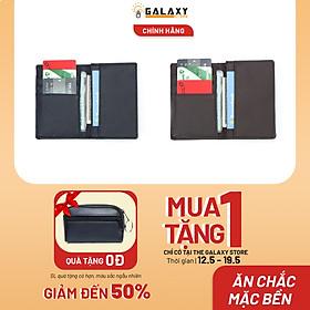 Combo 2 Ví Bóp Nam Nhỏ Gọn Nhiều Ngăn Để Thẻ CMND Galaxy Store GVMB01 GVMB02 (Đen + Nâu)
