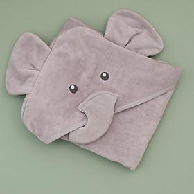 khăn chăn màu xám hình voi